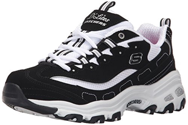 11930 BKW Black Dlites Skechers Shoes Women Sport Casual Comfort Memory Foam New 11930BKW by Skechers