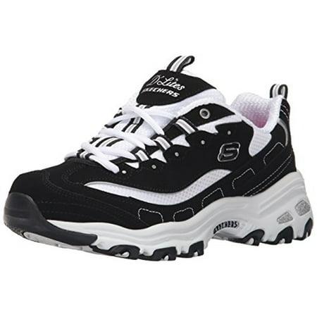 11930 BKW Black Dlites Skechers Shoes Women Sport Casual Comfort Memory Foam New 11930BKW