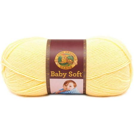 Lion Brand Yarn Babysoft Lemonade 920-160 Baby Yarn