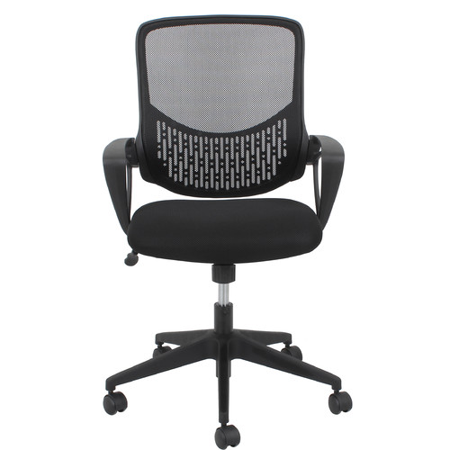 OFM Essentials Swivel Mesh Task Chair With Arms Black