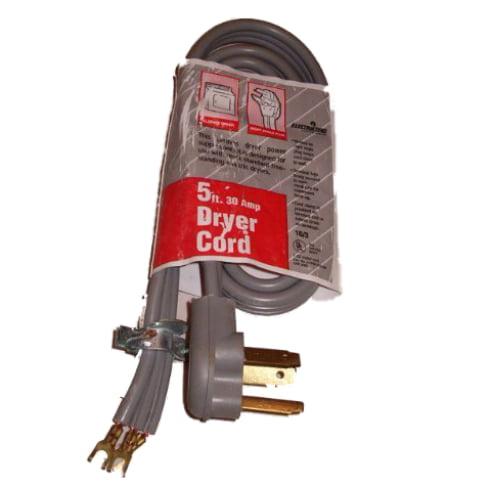 Electricord 5 ft. 30A Dryer Cord 10 Gauge 10/3AWG SRDT NEMA 10-30P