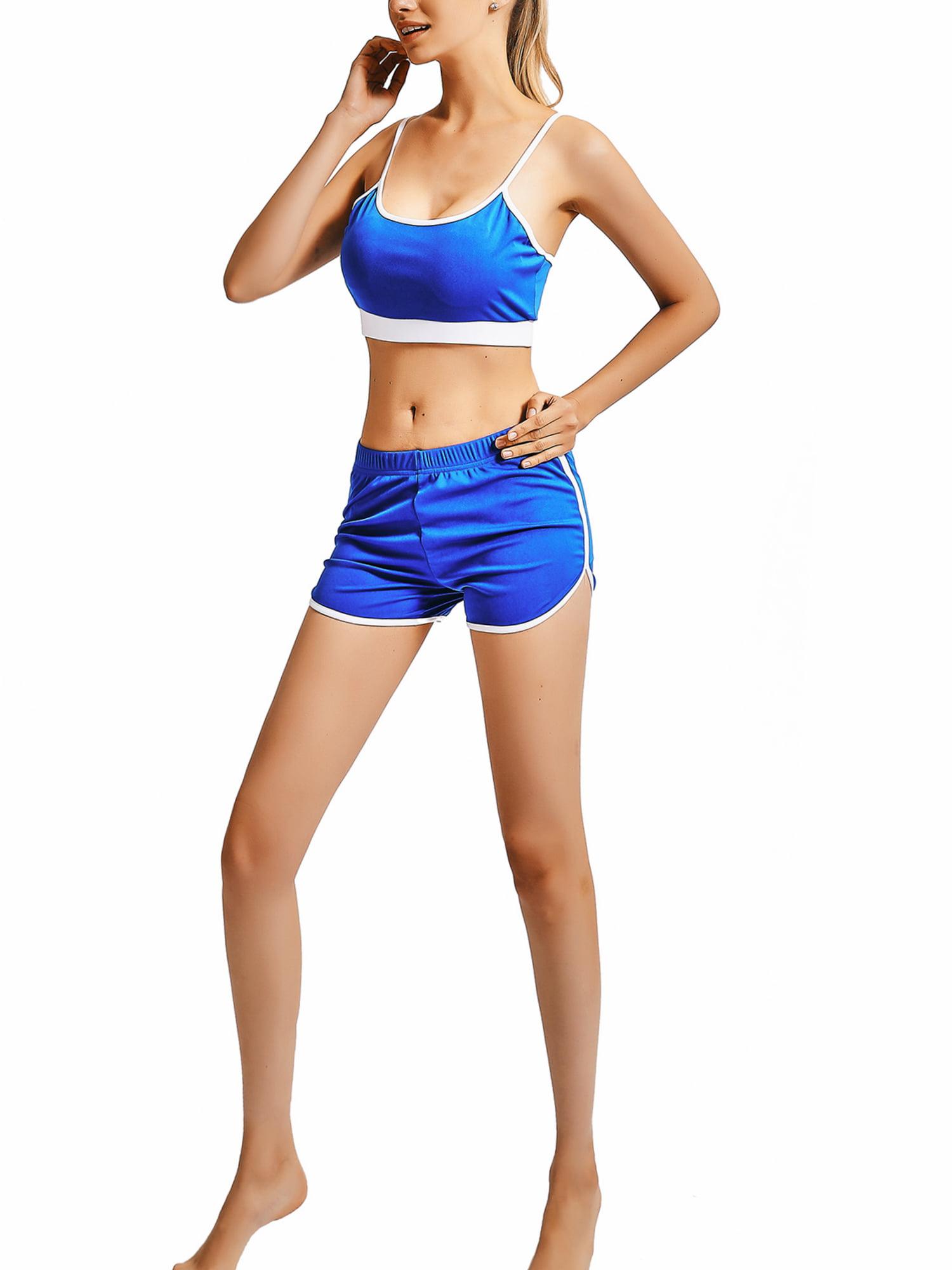 SportsX Womens Premium Fitness Stretch Active Workout Midi Shorts