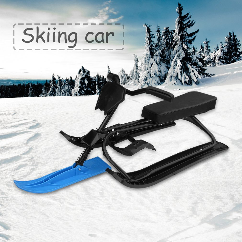 Snow Racer with Safe Brake Snow Sled Snowmobile with Anti-slip Handle Bar 09A by