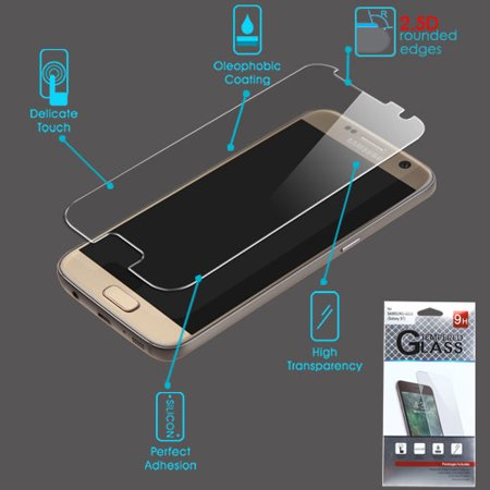 For Samsung Galaxy S7 Clear Tempered Glass Screen Protector Film Cover (2.5D)