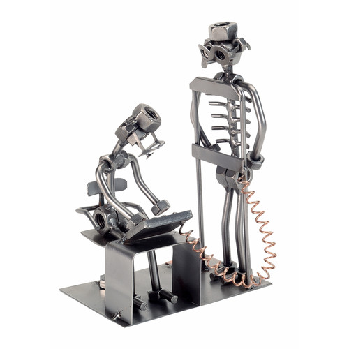 H & K SCULPTURES Radiologist Nuts and Bolts Sculpture by