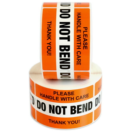 DO NOT BEND Please Handle With Care Label Stickers 2