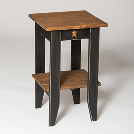 Furniture Barn USA™ Primitive Pine Square End Table with - Pine Painted Furniture