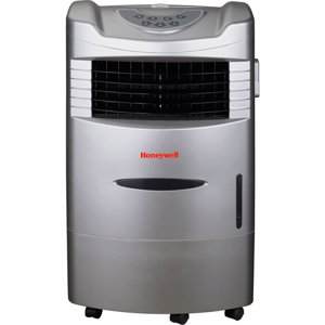 Honeywell CL201AE 470 CFM 280 sq. ft. Indoor Portable Evaporative Air Cooler (Swamp Cooler) with Remote Control, Silver