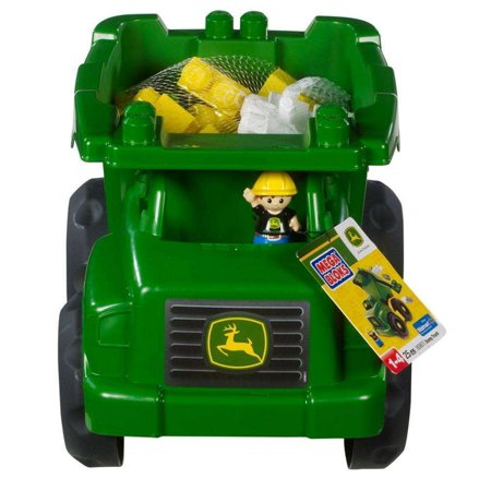 Mega Bloks John Deere Large Vehicle Dump Truck with 1-Block Buddy (Truck N Buddy)