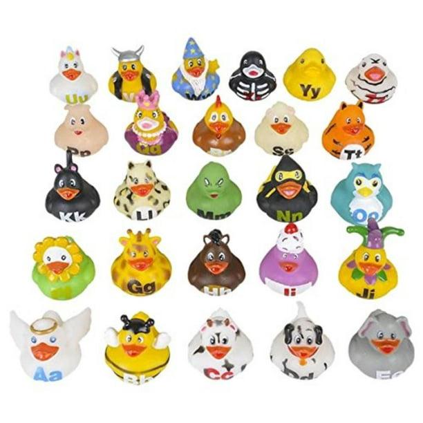 """2"""" Alphabet Rubber Ducks (26 Piece), Each Duck Has A"""