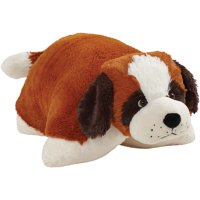 "Pillow Pets 18"" Signature St. Bernard Stuffed Animal Plush Toy"