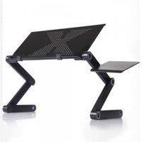 "Portable Home Use Assembled Folding Table Black (18.9 x 10.24)"""