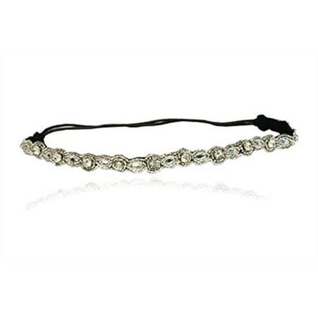 Bridal Crystal Thin Rhinestone Diamond Headband Adjustable Non-slip Comfortable for Wedding