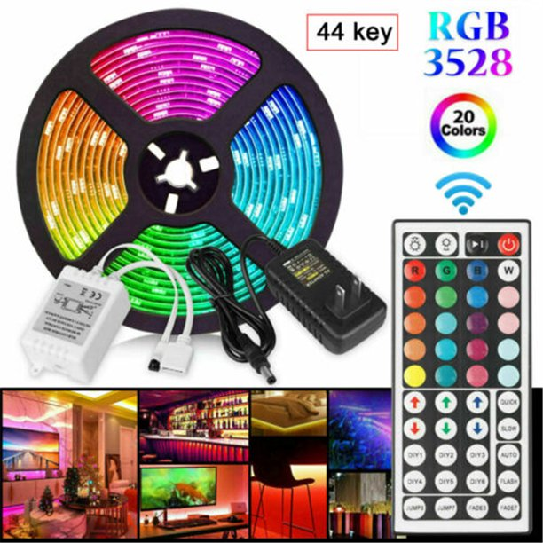 2020 New Led Lights With 5050 Rgb 16 Color Lights With Tv Backlight With Remote Control Usb Walmart Com Walmart Com