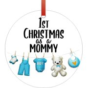Ornaments Baby Ornament 1st Christmas as a Mommy Baby Boy Ornament Christmas Décor