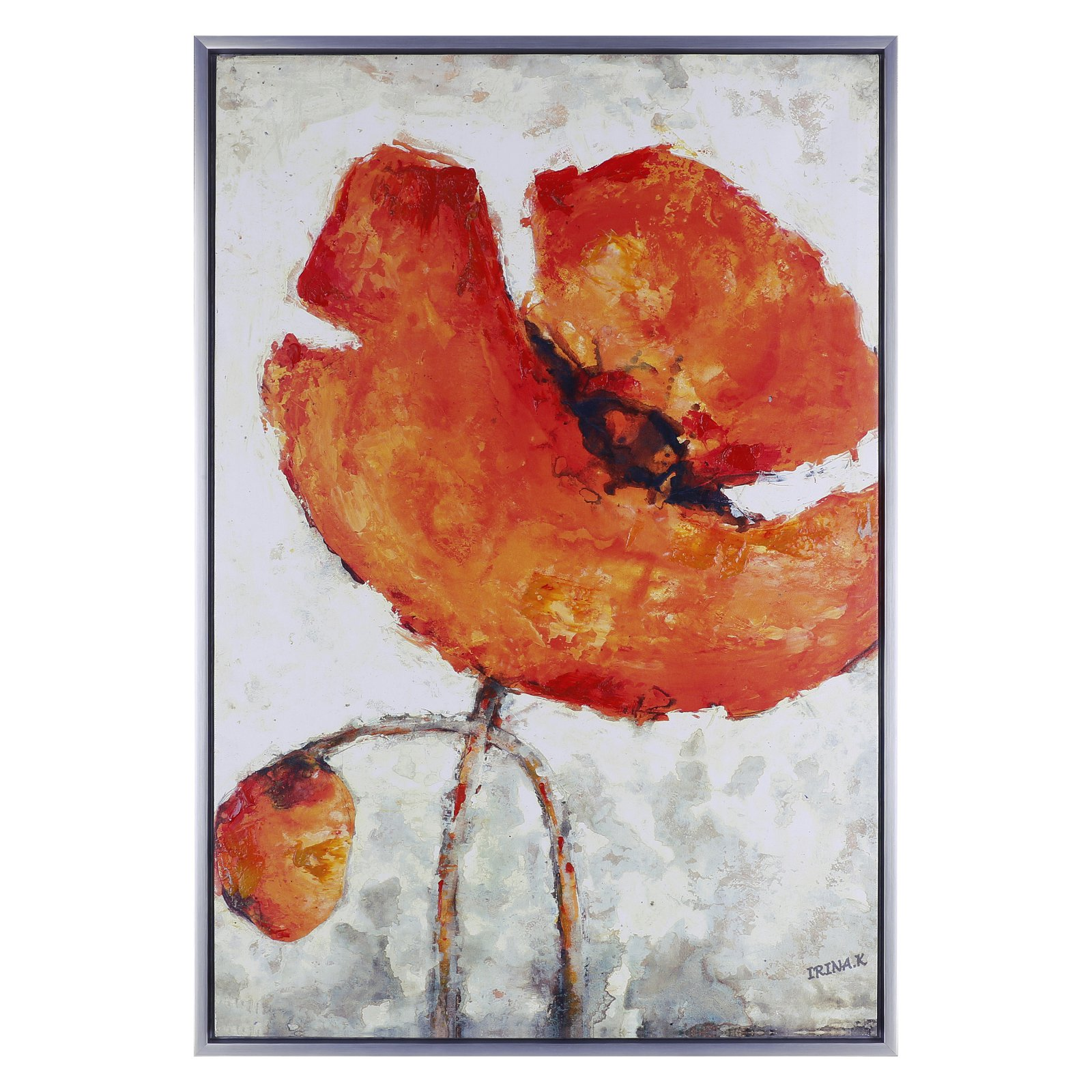 ArtMaison Canada Orange Glory Framed Acrylic Canvas Wall Art