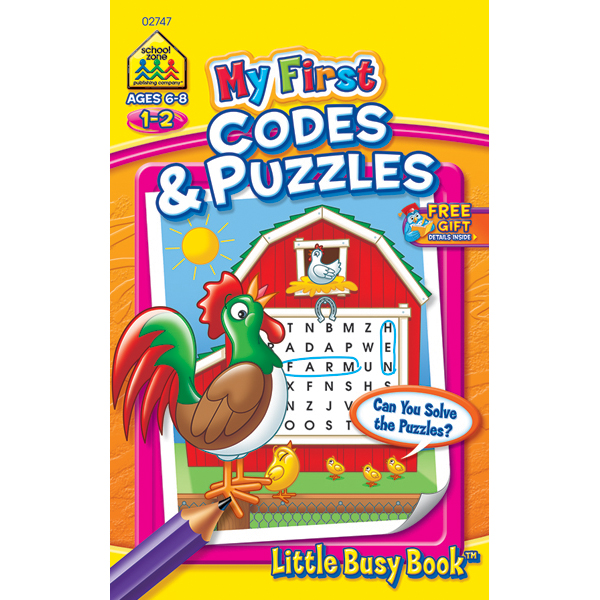 Codes And Puzzles Grades 1-2 - My First Little Busy Book