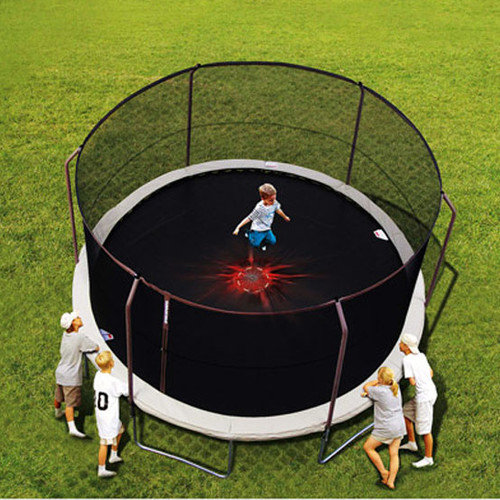SKYBOUND 14' Enclosure Trampoline Net Using 6 Straight-Curved Poles