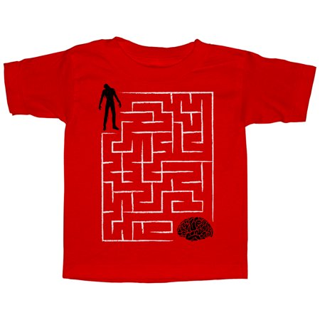 Halloween Brain Teasers (Lost Gods Halloween Zombie Brain Teaser Maze Toddler Graphic T)
