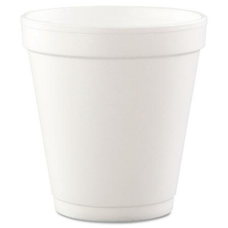 Dart 10J12 Conex Hot/Cold Foam Drinking Cups, 10oz, Squat, White, 40/Bag, 25 Bags/Carton Squat Paper Cup