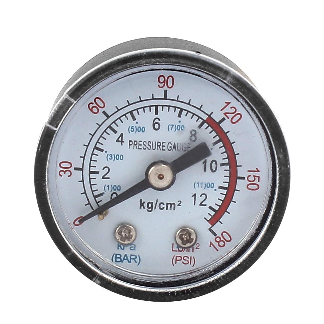 Unique Bargains 1/8BSP Thread Dia Air Compressor Barometer Measurement Tool 0-12KPa 0-180 Psi