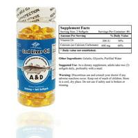 Cod Liver Oil (160 Softgels / 500 Mg)
