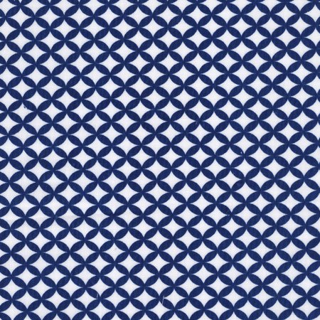 Poly Backing (Shason Textile Soft Poly Cotton Geometric Print Fabric For Various Projects, 3 yds, Multiple Colors)