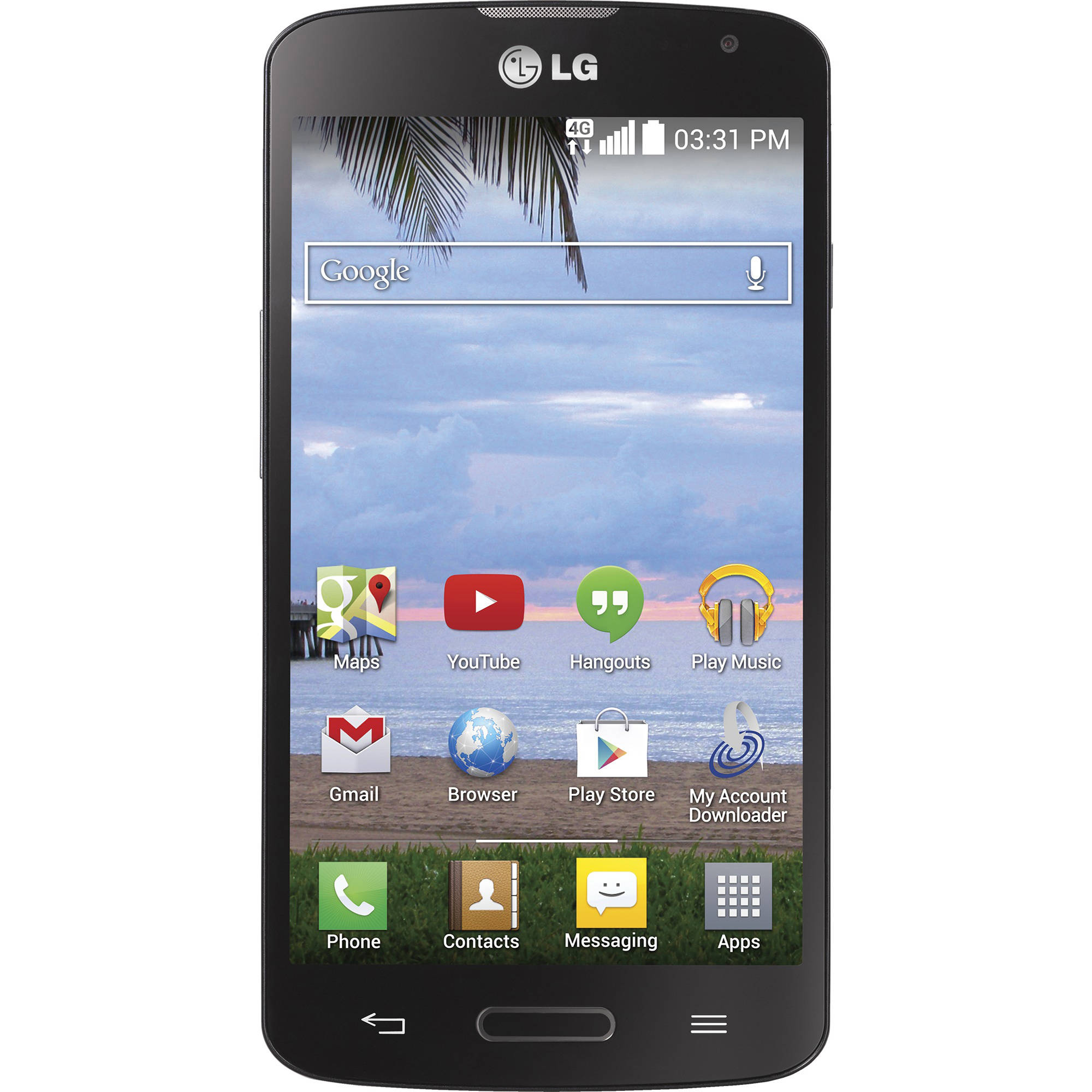 Straight Talk LG Access 4G LTE Android Refurbished Prepaid Smartphone w/ Bonus $45 30-Day Plan