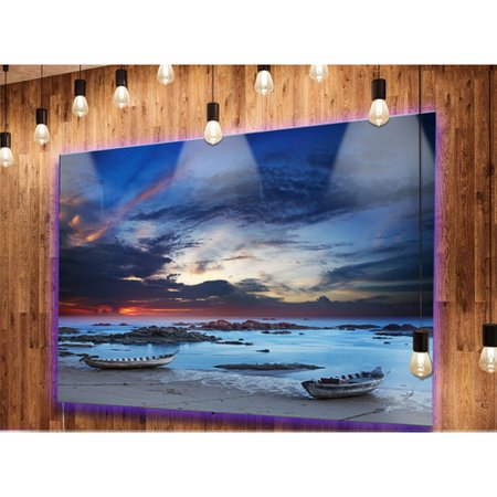 Design Art 'Colorful Traditional Asian Boats' Photographic Print on Metal