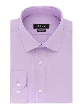 Lilac Mens Long-Sleeve Slim Fit Dress Shirt 17