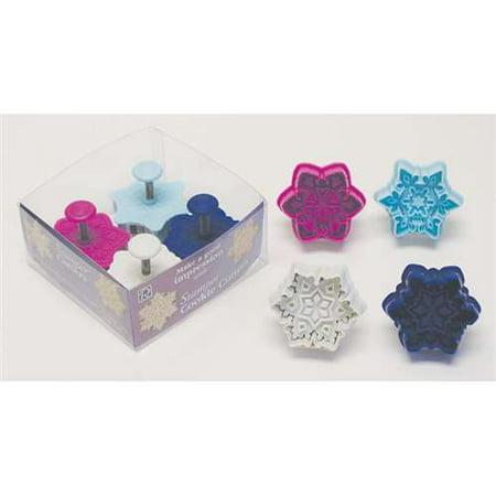 R&M Snowflake Pastry & Cookie Stamper Set of 4 - Various - Snowflake Cookie