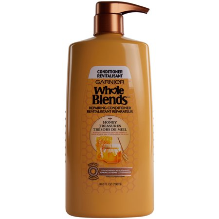Garnier Whole Blends Repairing Conditioner Honey Treasures, For Damaged Hair, 26.6 fl. oz.