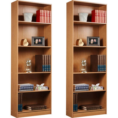 Orion 5-Shelf Bookcase, Set of 2, (Mix and Match)