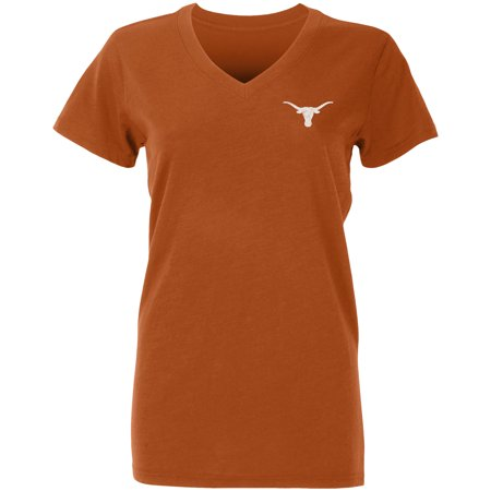 Texas Longhorns Tri Color (Women's Texas Orange Texas Longhorns In Texas V-Neck T-Shirt)