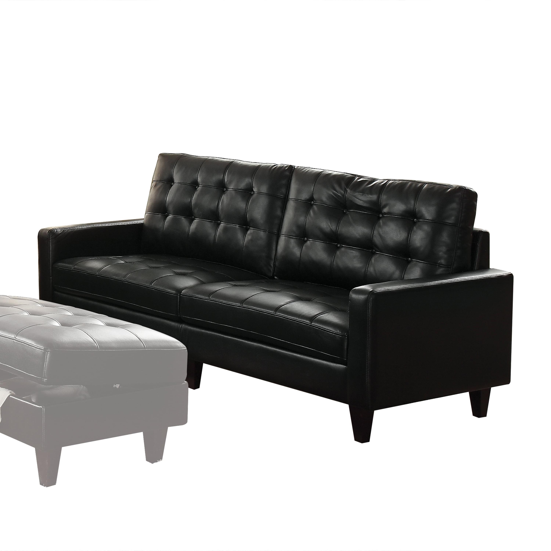Acme Adley Memory Foam Sofa in Black Leather-Gel