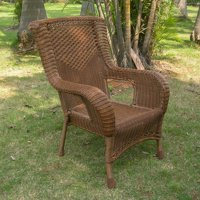 Resin Wicker/Aluminum Dining Chair - Mocha Tan