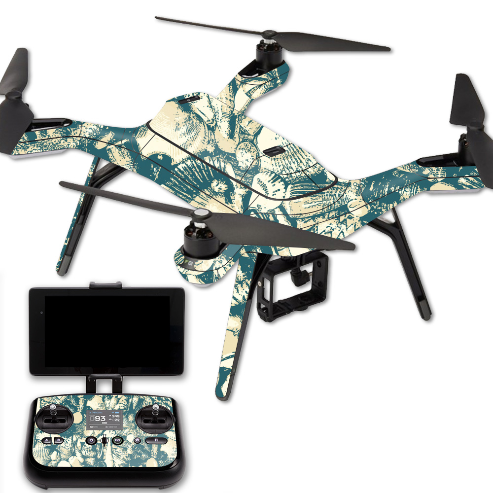 MightySkins Protective Vinyl Skin Decal for 3DR Solo Drone Quadcopter wrap cover sticker skins