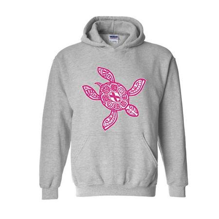 Sea Gull Sweatshirt (Hawaiian Sea Turtle in Pink Hawaii Kauai Maui Oahu Unisex Hoodie Hooded Sweatshirt)