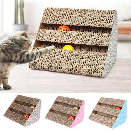 Cat Corrugated Scratcher Kitten Scratch Mat Toy Scratching Board Cat Scratcher Naturales Incline Scratcher Pad Incline Cat Scratcher