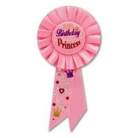 Beistle RS190 Birthday Princess Rosette - Pack of 6