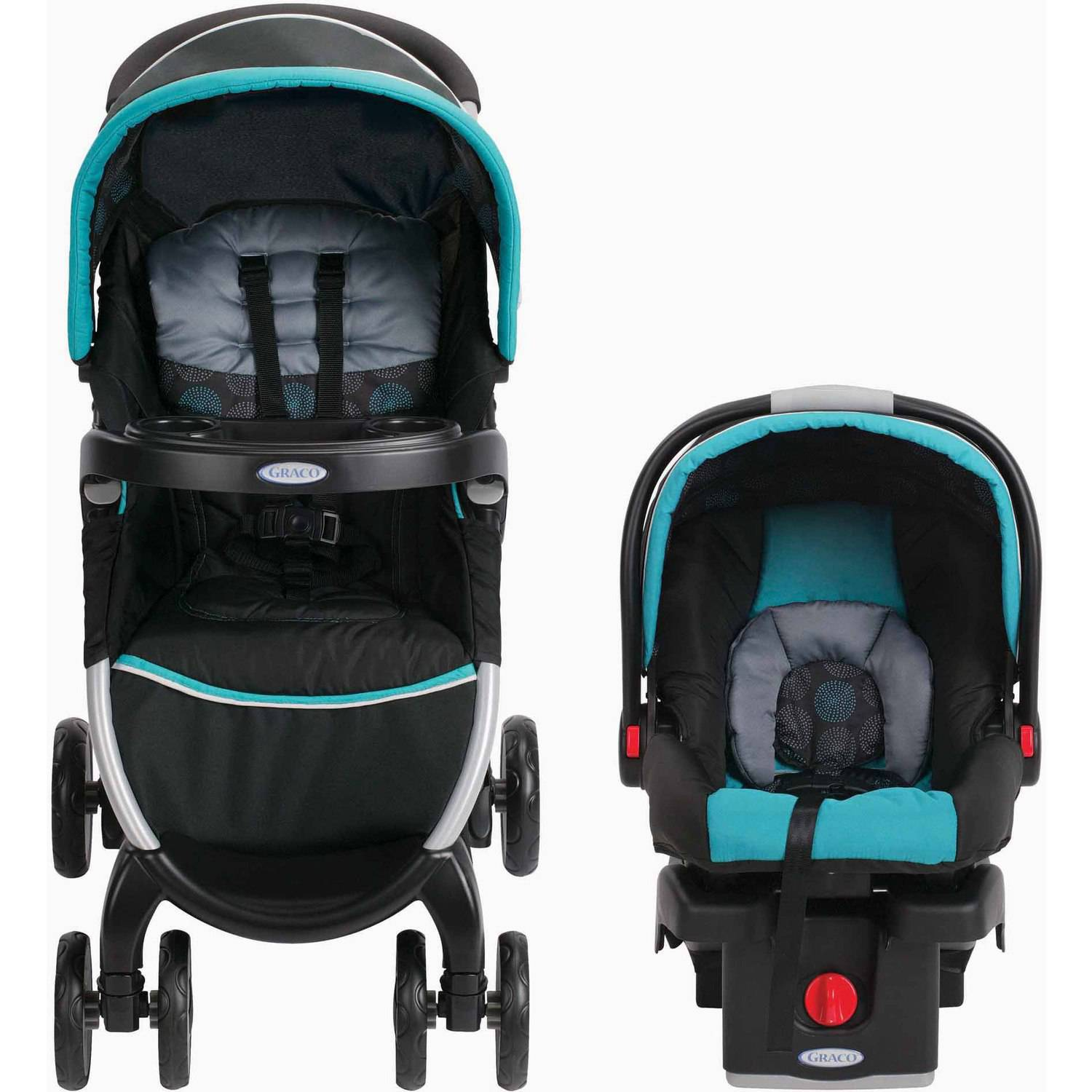 Graco FastAction Fold Click Connect Travel System Bristol