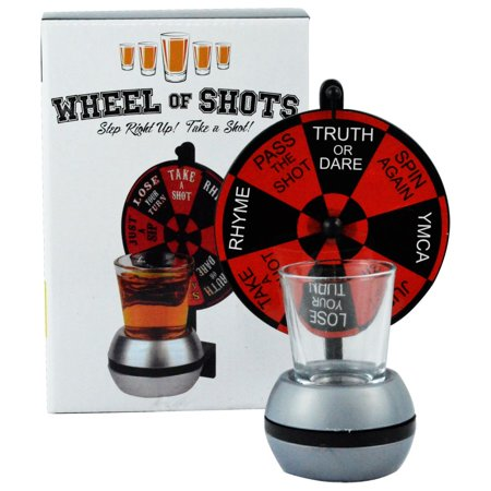 Fairly Odd Novelties Wheel Of Shots, Spinning Shot Glass Drinking Game](Shot Drinks For Halloween)