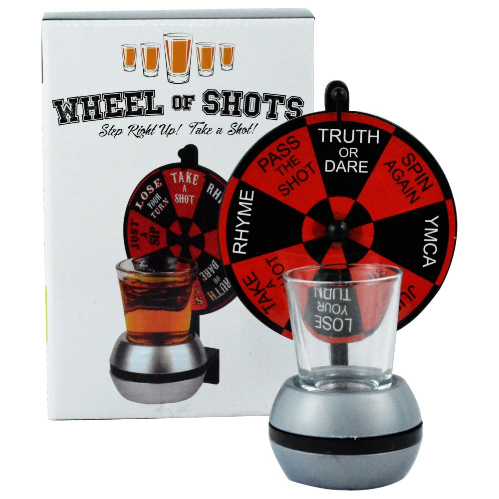 Fairly Odd Novelties Wheel Of Shots, Spinning Shot Glass Drinking Game