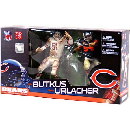 McFarlane NFL Sports Picks Dick Butkus & Brian Urlacher Action Figure 2-Pack Dick Butkus Signed Photo