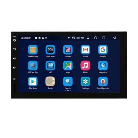 Android 8.0 Car Radio Stereo 7 inch Capacitive Touch Screen High Definition 1024x600 GPS Navigation Bluetooth USB SD Player 4G DDR3 + 32G NAND Memory Flash