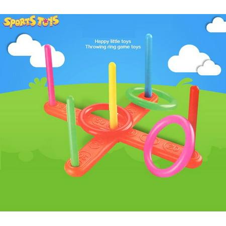 New Amusing Hoop Ring Toss Plastic Ring Toss Quoits Garden Game Pool Toy Outdoor Fun Set - Fun Outdoor Halloween Games