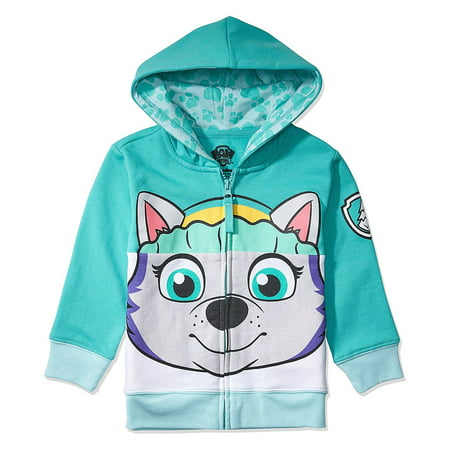 Nickelodeon Toddler Paw Patrol Character Big Face Costume Zip-up Hoodies (2T, Everest) ()