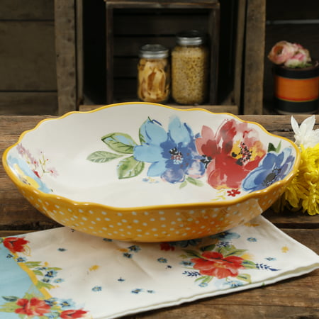 The Pioneer Woman Melody Large Pasta Serving Bowl (Football Serving Bowl)
