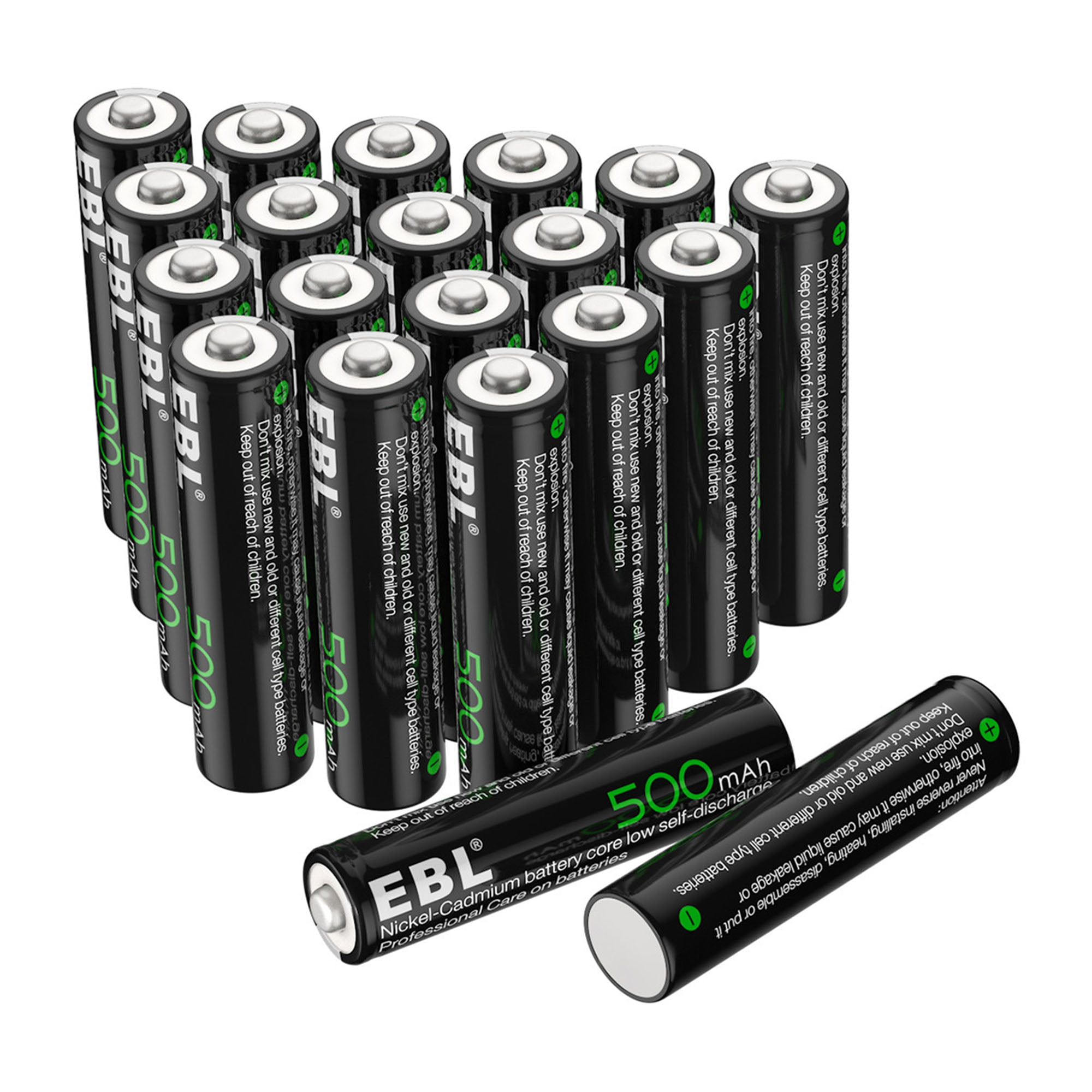 Ebl 20 Pack 1 2v 500mah Rechargeable Aaa Batteries For