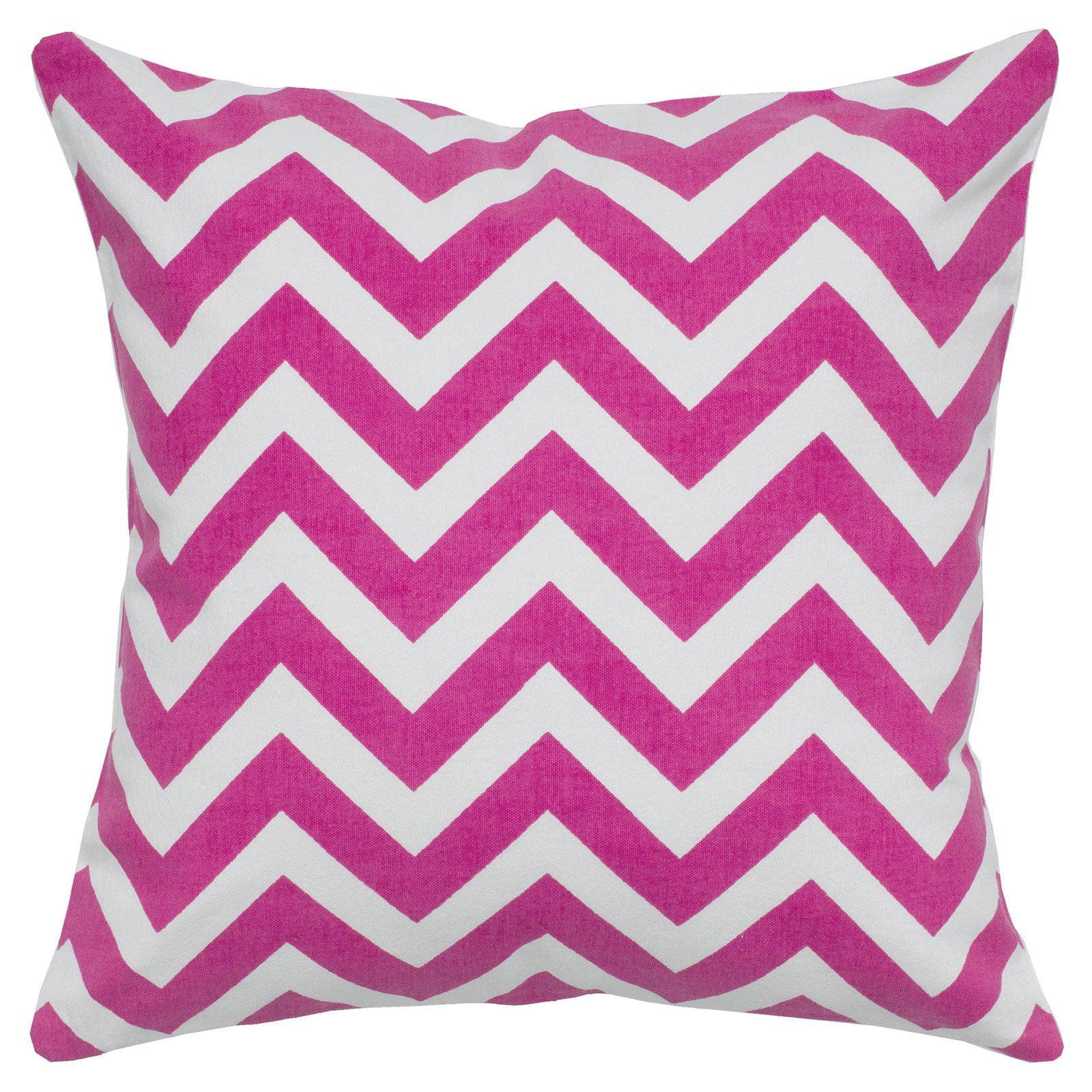 """Rizzy Home Decorative Poly Filled Throw Pillow Chevron 18""""X18"""" Orange"""